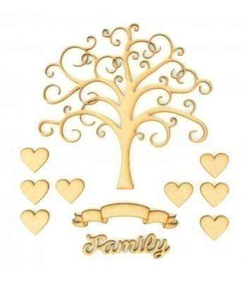 Laser Cut Bargain Box Frame Tree Kit - Set 4