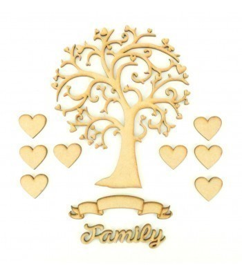 Laser Cut Bargain Box Frame Tree Kit - Set 6