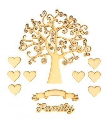 Laser Cut Bargain Box Frame Tree Kit - Set 9