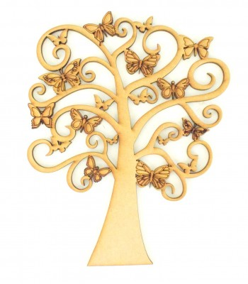 Laser Cut Detailed Butterfly Tree Design - Design 24