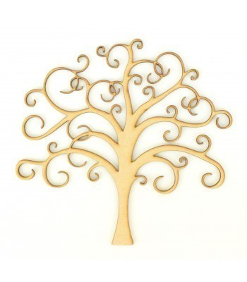 Laser Cut Detailed Fine Delicate Swirl Tree