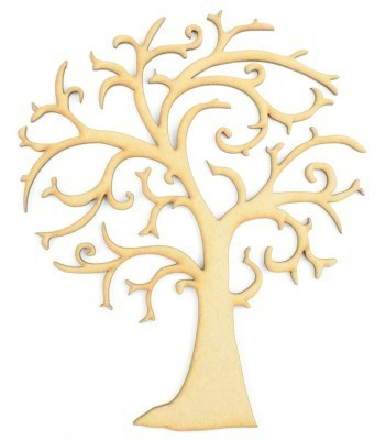 Laser Cut Rounded Branches Tree