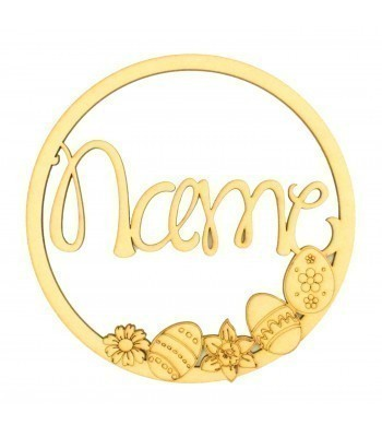 Laser Cut Personalised Dream Catcher Frame - Wall Art Hoop - Size Options - Janda Font