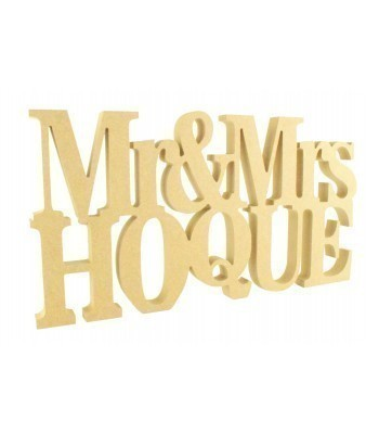 Freestanding MDF Personalised Mr & Mrs... Surname (BT)
