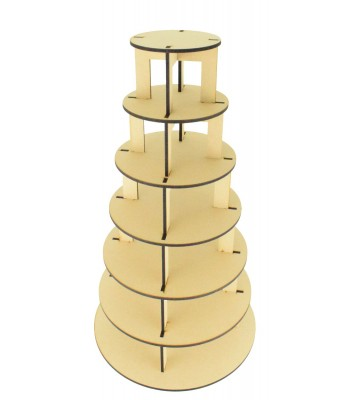 Laser Cut 7 Tier Cake Stand - 6mm - Options