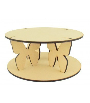 "Laser Cut 12"" Butterfly Cake Stand - 6mm"