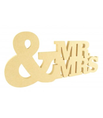 18mm Freestanding MDF Large & with Mr and Mrs at the side