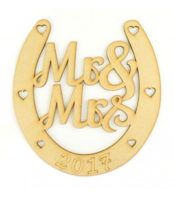 Laser Cut Mr & Mrs Wedding Horseshoe - 2017