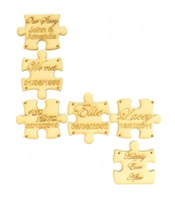 Laser Cut Personalised 'Our Story' Puzzle Pieces
