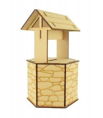 Laser Cut Mini 3D Detailed Wedding Wishing Well - Money Box