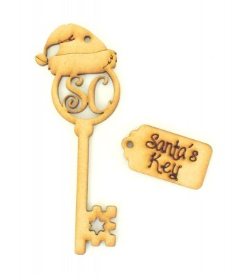 Laser Cut Magic Santa Key and Tag - Christmas Eve Gift Set Bulk buy pack of 10