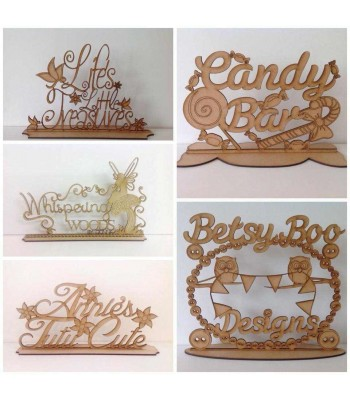 Laser Cut Bespoke Personalised Business Logo Sign - 3mm
