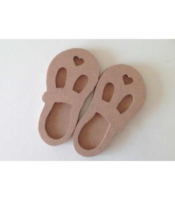 6mm Cute 3D Baby Heart Shoes (Design 2)