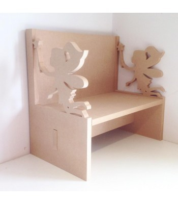 Routered 18mm MDF Quality Flat packed Fairy Novelty Chair