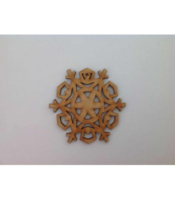 Laser Cut Detailed Snowflake