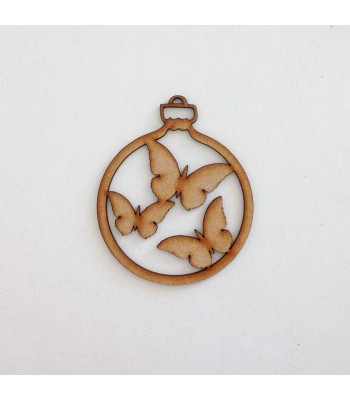 Laser Cut Butterflies Christmas Bauble