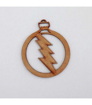 Laser Cut The Flash Superhero Christmas Bauble