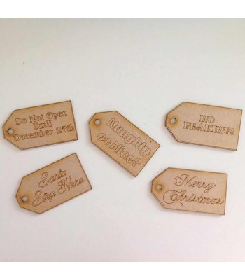 Laser Cut Pack Of Large Christmas Gift Tags