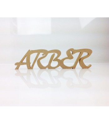Freestanding MDF Personalised Joined Word (ARBER - 100-CAPS)