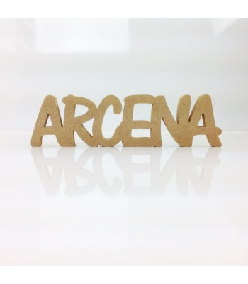 Freestanding MDF Personalised Joined Word (ARCENA - 100-CAPS)