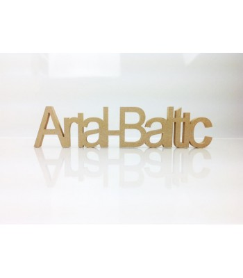 Freestanding MDF Personalised Joined Word (Arial-Baltic - 100)