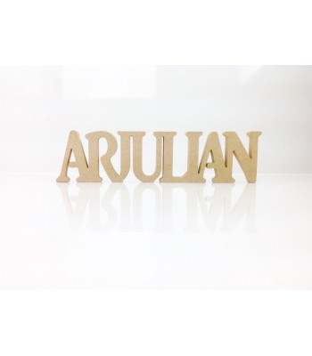Freestanding MDF Personalised Joined Word (ARJULIAN - 100-CAPS)