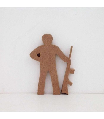 Freestanding Army Man - Soldier Shape