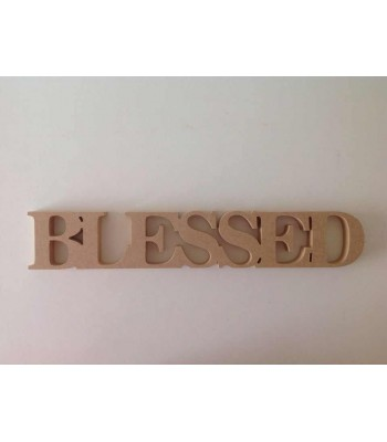 Freestanding MDF BLESSED Joined Word