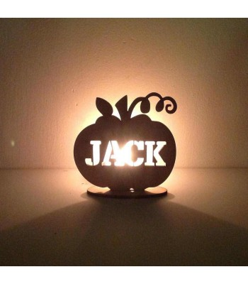 Laser Cut Personalised Pumpkin on a stand