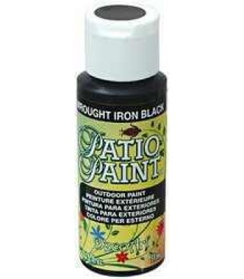 DecoArt Patio Paint - Wrought Iron Black 2oz