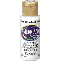 2oz Snow (Titanium) White Amer Acrylic Craft Paint