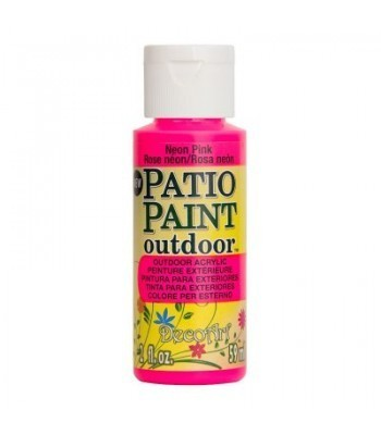 DecoArt Patio Paint - Neon Pink 2oz