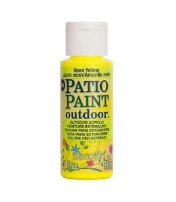 DecoArt Patio Paint - Neon Yellow 2oz