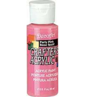 Acrylic (Crafters Acrylic) Party Pink Crafters Acylic Craft Paints