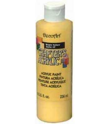 Bright Yellow  - DecoArt Crafters Acrylic Paint 8oz