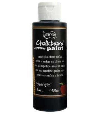 Chalk Board Paint 4oz Black Slate Chalk Board Paint 4oz.