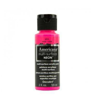 DecoArt Americana Multi-Surface Neon craft paint.