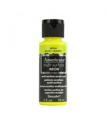 DecoArt Americana Multi-Surface Neon craft paints.