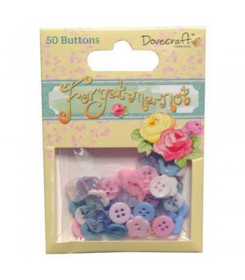 Dovecraft Forget Me Not Buttons