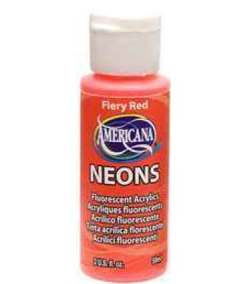 Fiery Red Amer Neon 2oz craft paints