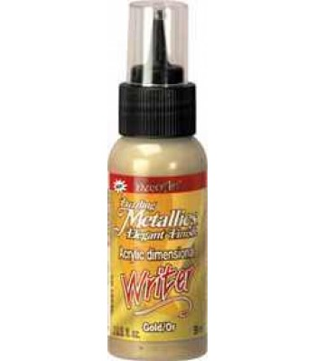 Dazzling Metallic 3D Acrylic Writer 2oz - Gold