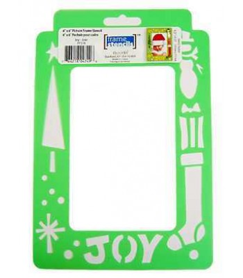 Joy Christmas - Decoart Frame Stencils. Christmas theme stencil
