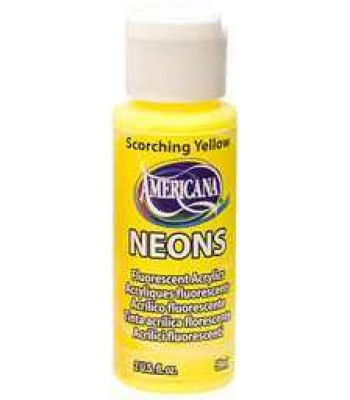 Scorching Yellow Amer Neon 2oz craft paint