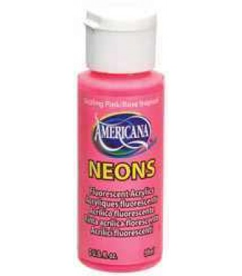 Sizzling Pink Amer Neon 2oz craft Paint