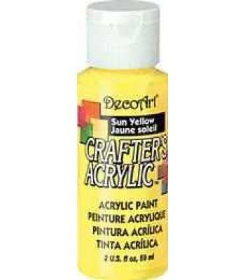 Sun Yellow Decoart Crafters Acrylic 2oz.