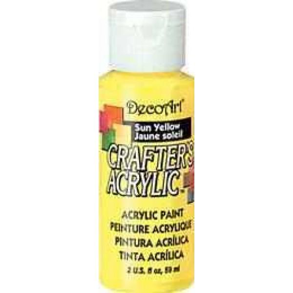 Sun Yellow Decoart Crafters Acrylic 2oz