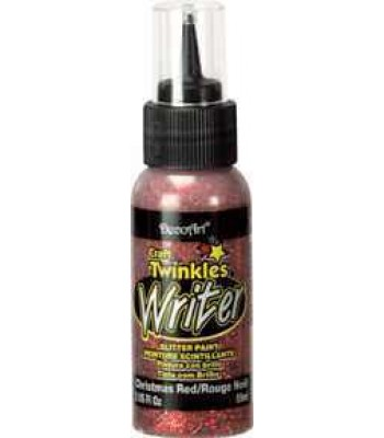 Xmas Red Craft Twinkles Writer 2oz Craft Paint