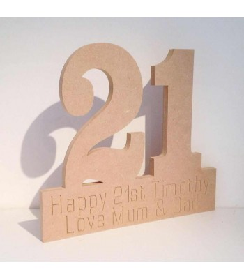 Freestanding Personalised Birthday Numbers on a stand
