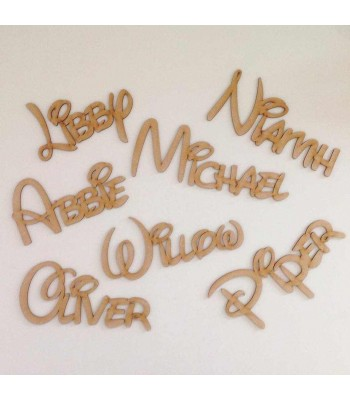 Laser Cut Personalised Disney Font Name - 3mm