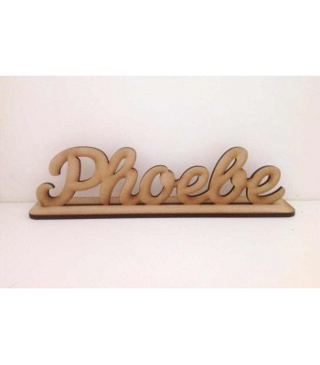 Laser Cut Personalised Script Font Name on Stand - 6mm
